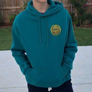 H&M hypnotizer hoodie cyan